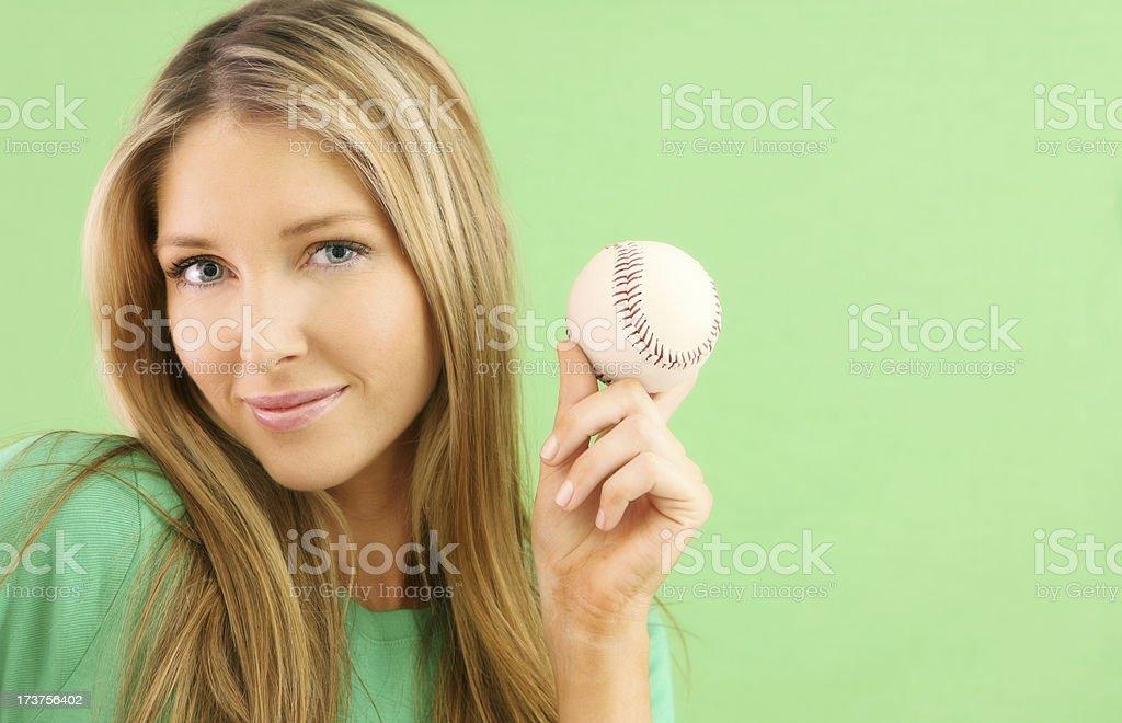 Baseball Smile royalty-free stock photo