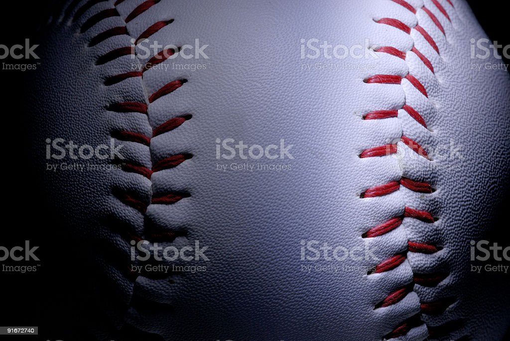 Baseball / Softball marco detail stock photo