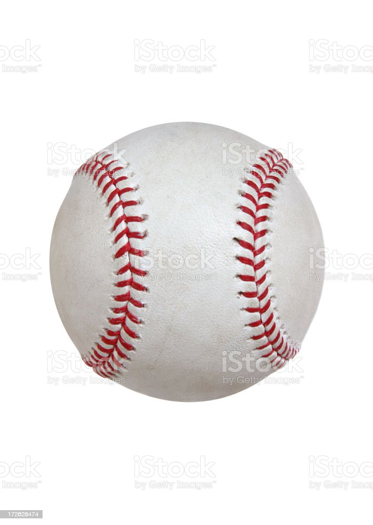 Baseball & Softball Series (on white with CLIPPING PATH) stock photo