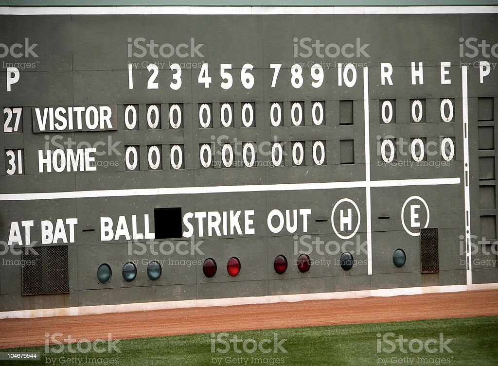 Baseball Sports Scoreboard royalty-free stock photo