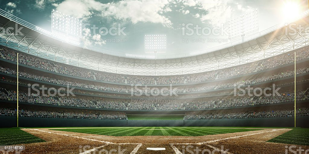 Baseball stadium royalty-free stock photo