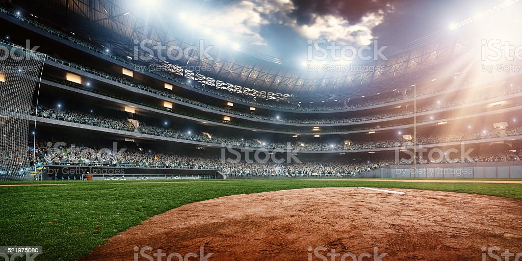 Baseball stadium stock photo