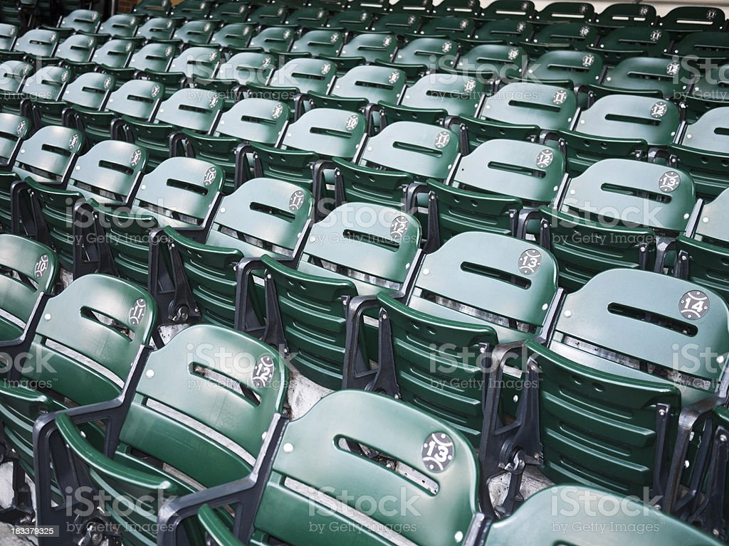 Baseball Stadium Seats royalty-free stock photo