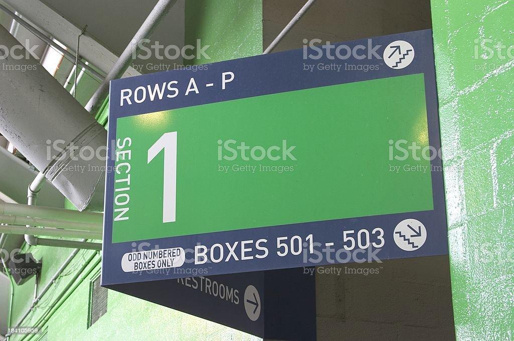 Baseball Stadium Sign stock photo