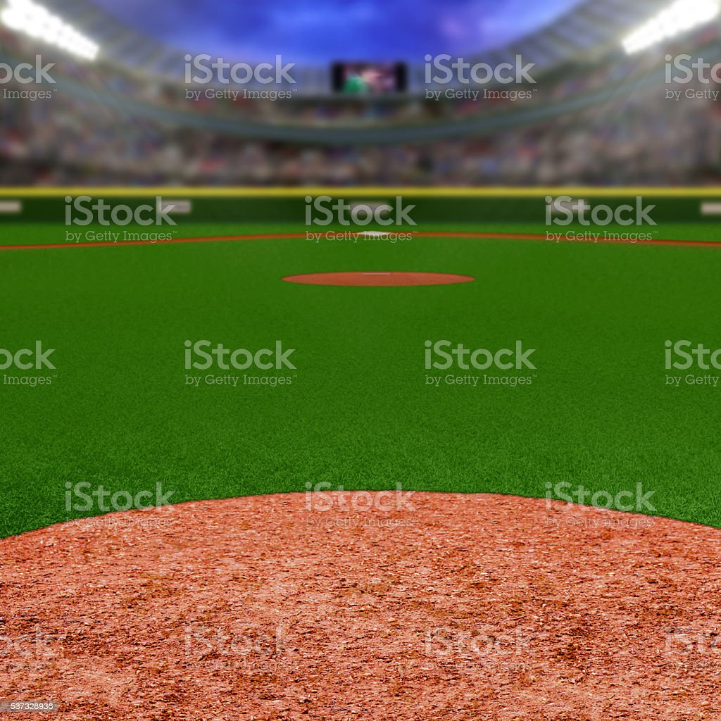 Baseball Stadium With Copy Space stock photo