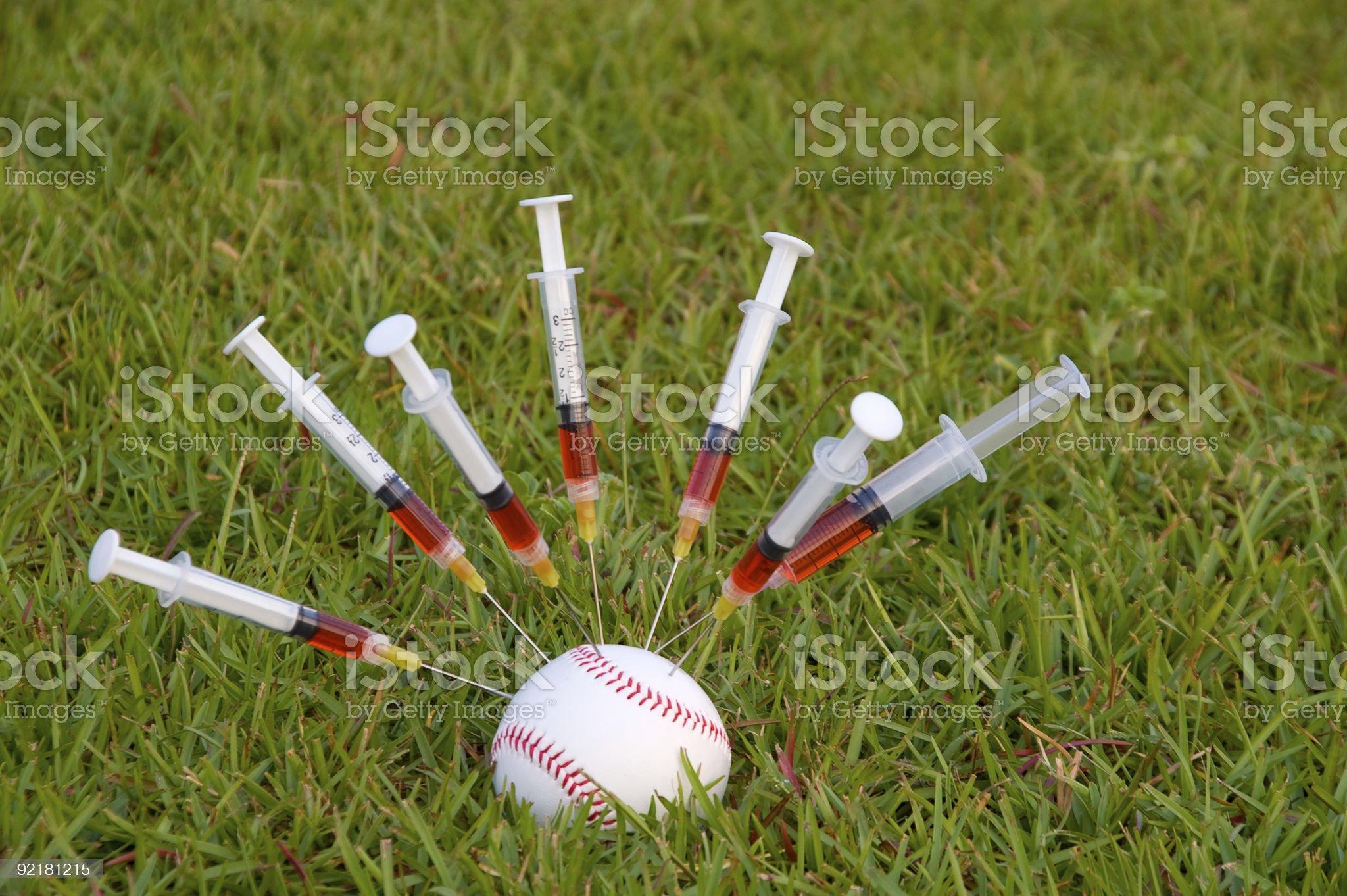 Baseball Steroids royalty-free stock photo