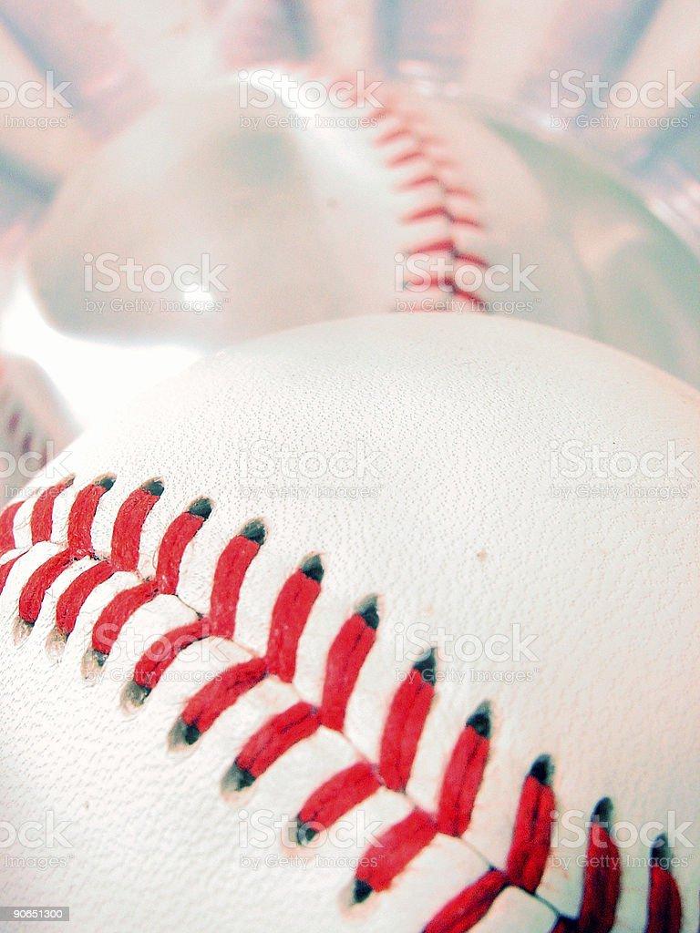 Baseball Stitches royalty-free stock photo