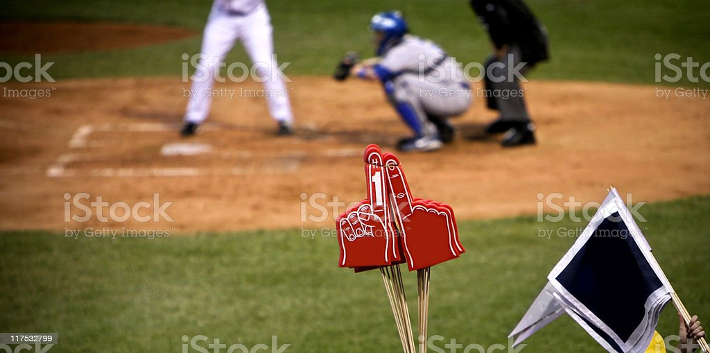Baseball Team Number One Fan stock photo