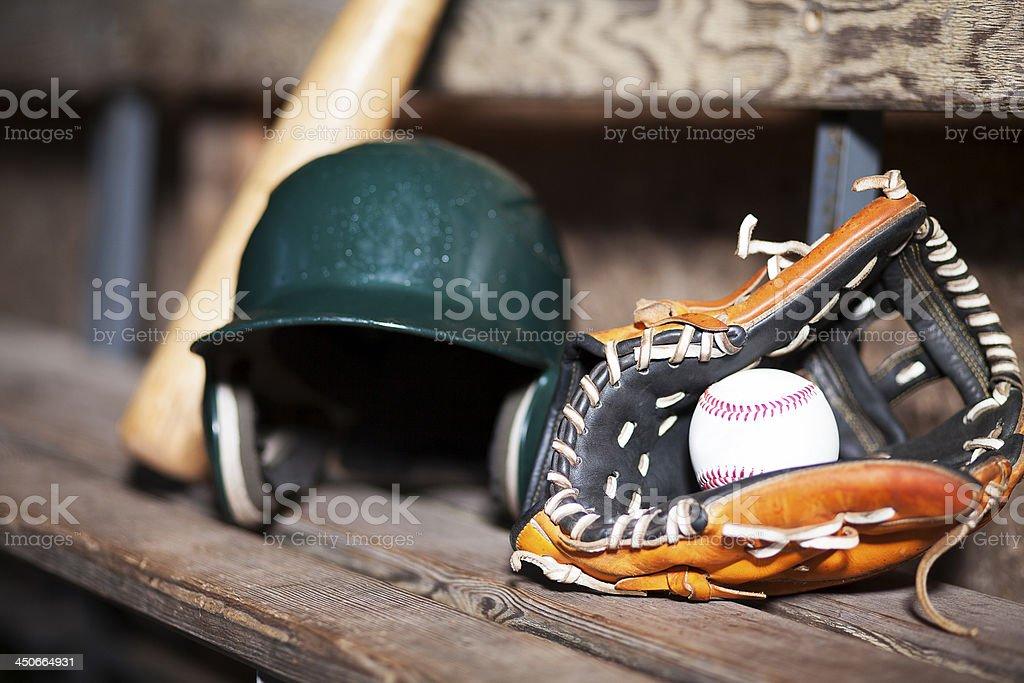 Baseball Things, Still Life stock photo