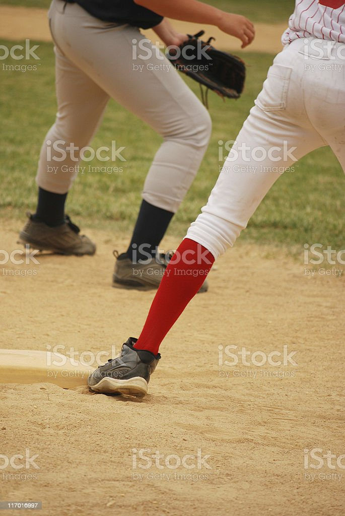 Baseball - Third Base royalty-free stock photo