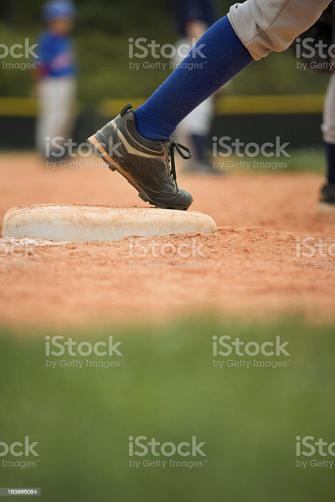 Baseball Third base runner royalty-free stock photo
