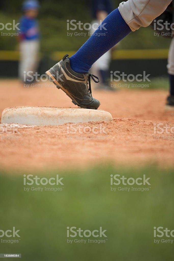 Baseball Third base runner stock photo