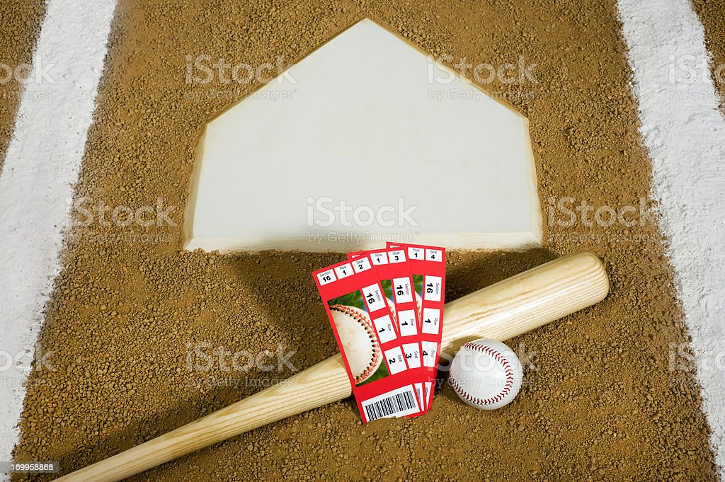 Baseball Tickets stock photo