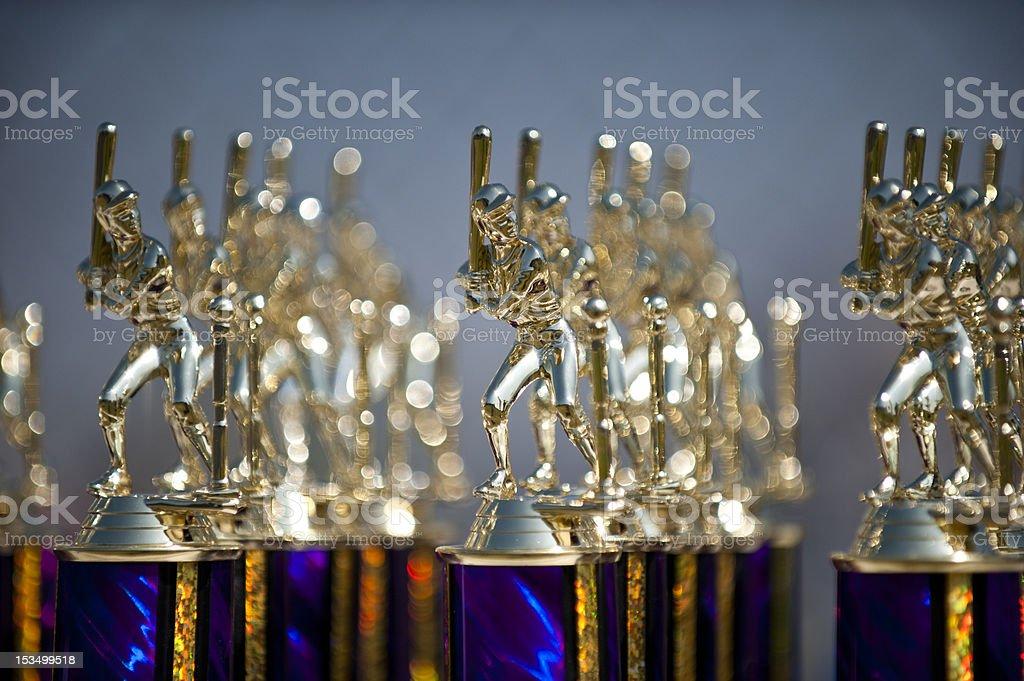Baseball trophy abstract stock photo
