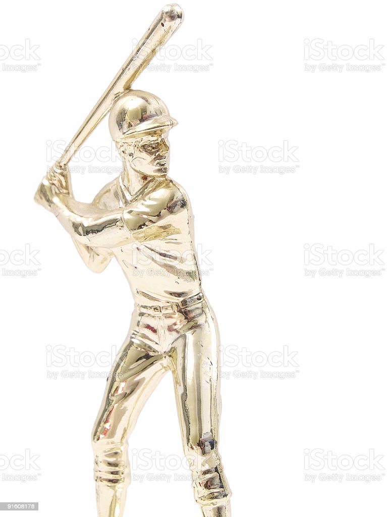 baseball trophy stock photo