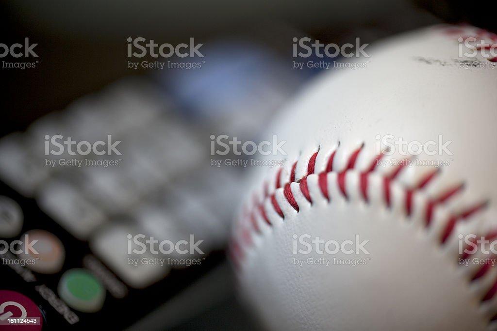 Baseball tv royalty-free stock photo