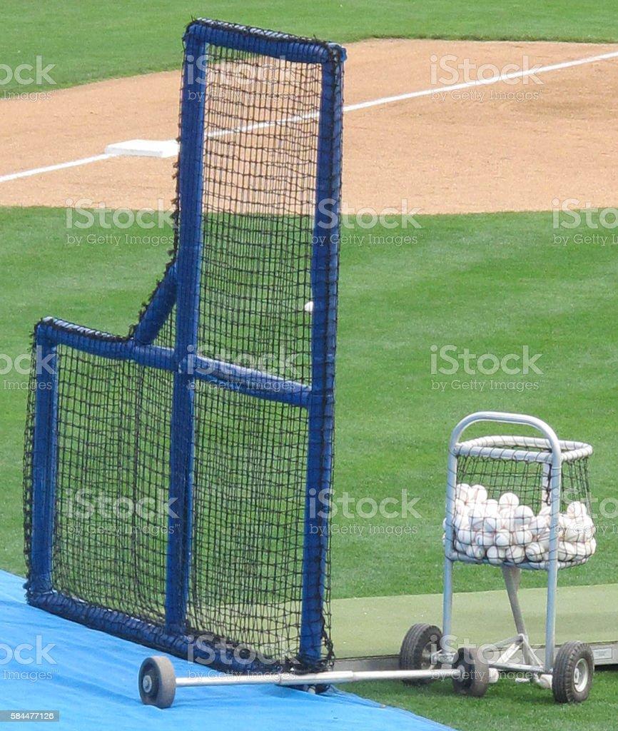Baseball Warm-Up stock photo