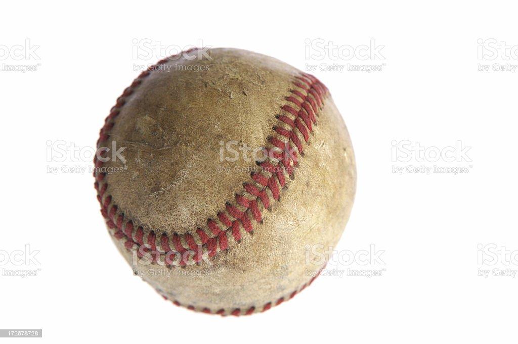 Baseball - weathered royalty-free stock photo