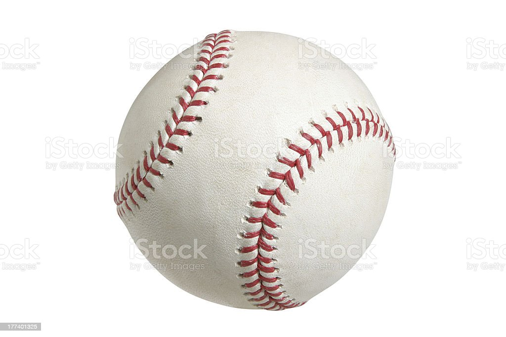 Baseball with clipping path royalty-free stock photo