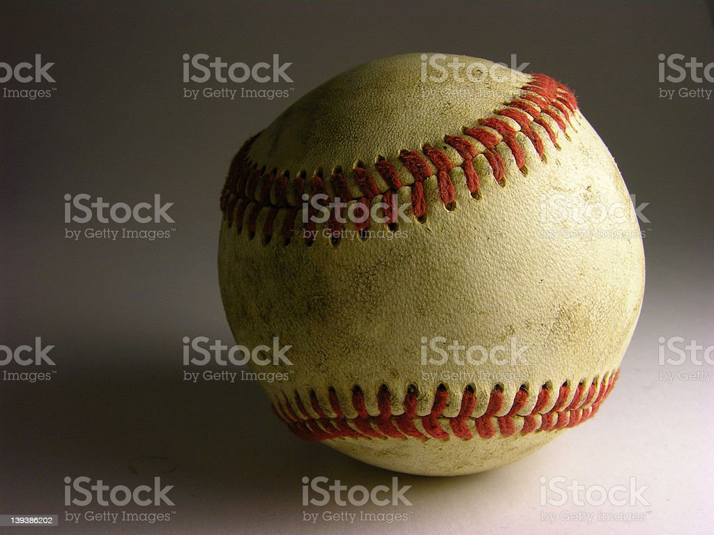 Baseball with dirt royalty-free stock photo