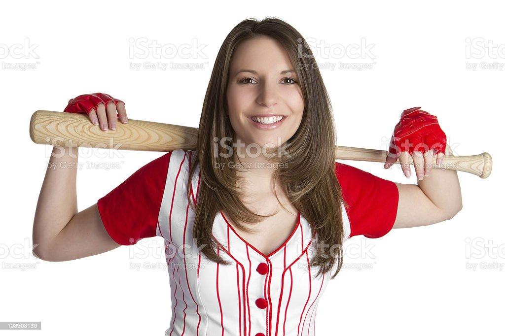 Baseball Woman royalty-free stock photo