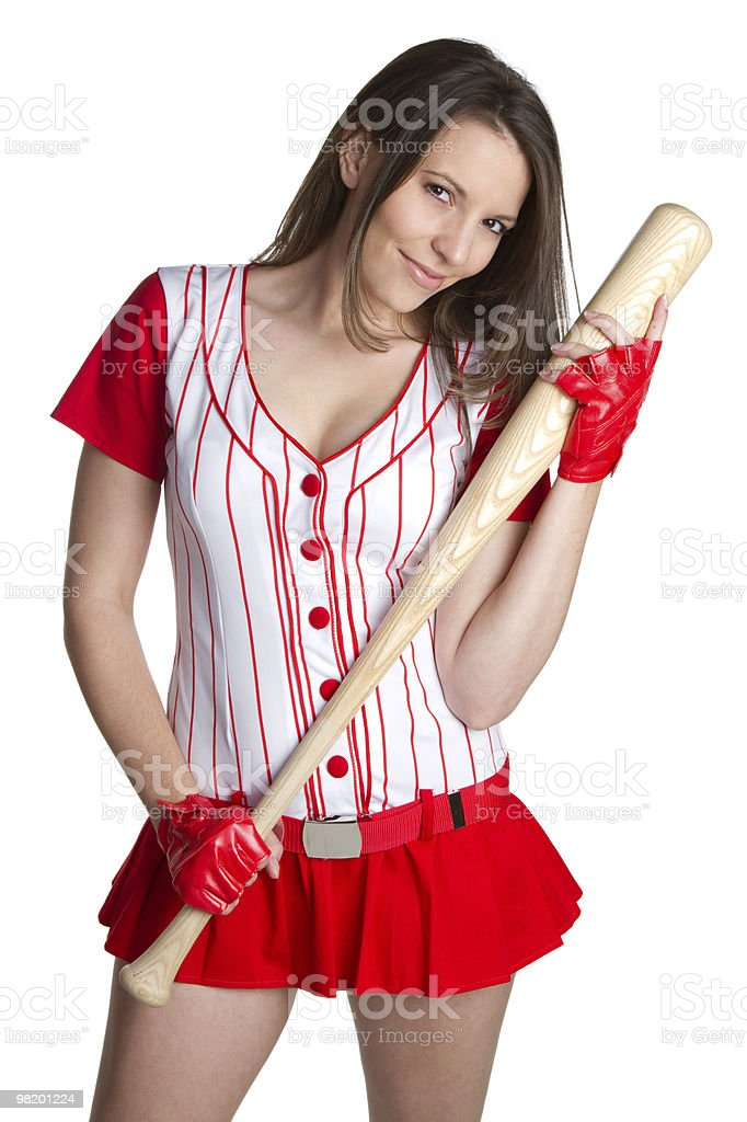 Baseball Woman royalty-free stock photo