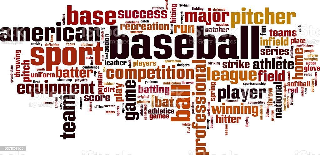 Baseball word cloud stock photo