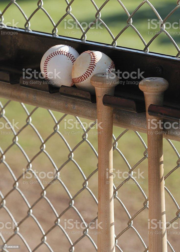 Baseballs and hanging bat royalty-free stock photo