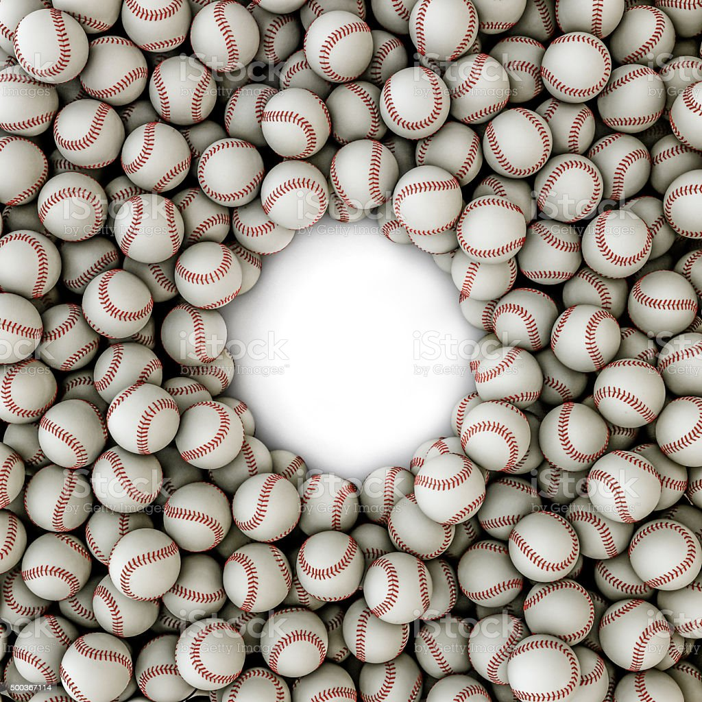 Baseballs frame stock photo