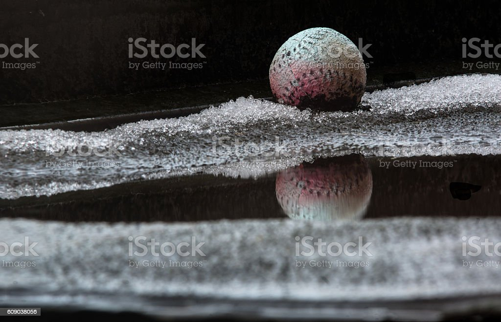 Baseballs in the Snow royalty-free stock photo