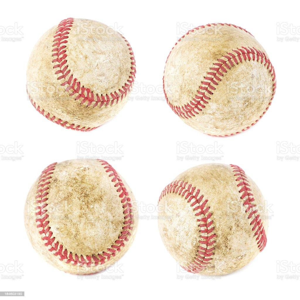 Baseballs isolated stock photo