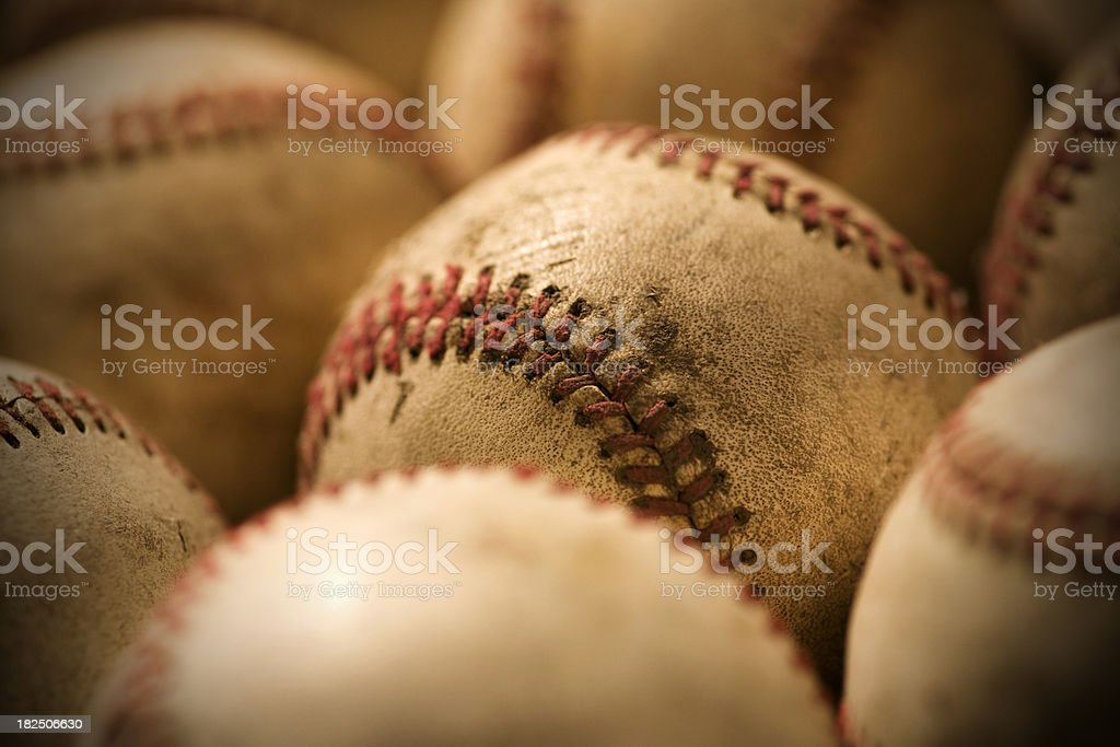 Baseballs royalty-free stock photo