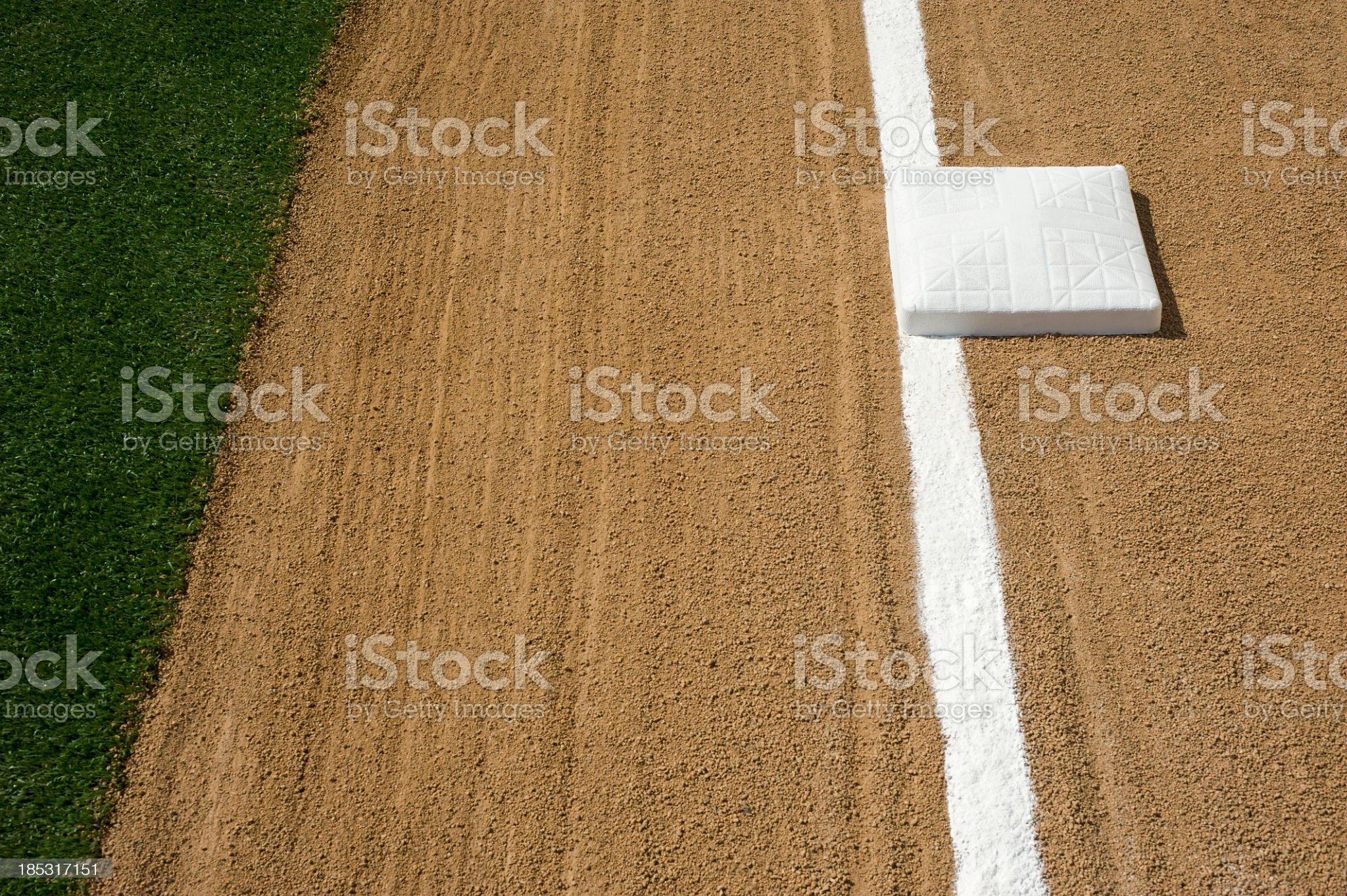 Baseball/Softball Infield, Third Base and Foul Line royalty-free stock photo