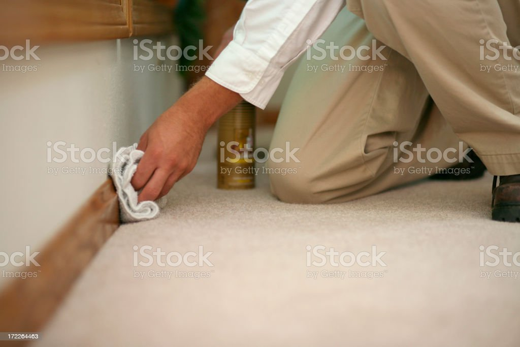 Baseboard Cleaning stock photo
