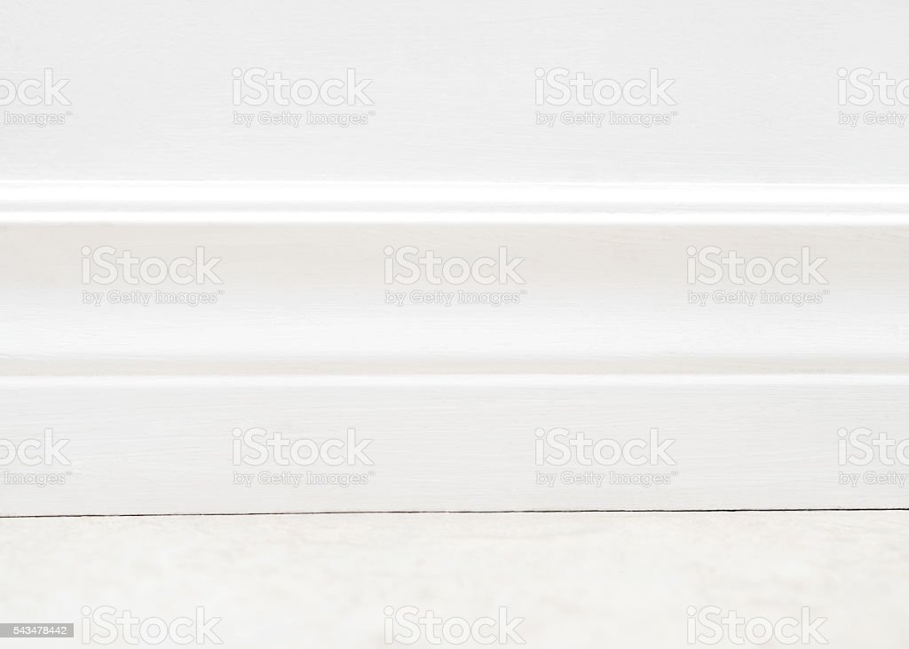 Baseboard Moulding stock photo