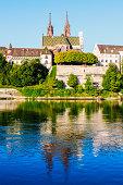 Basel architecture along Rhine River