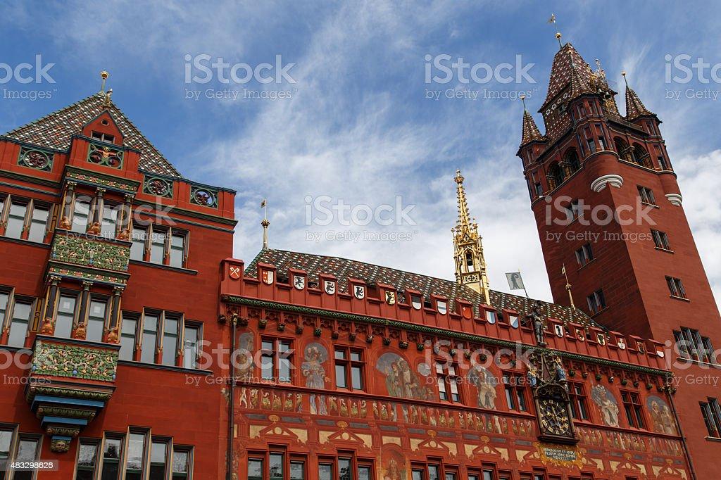 Basel City Hall stock photo