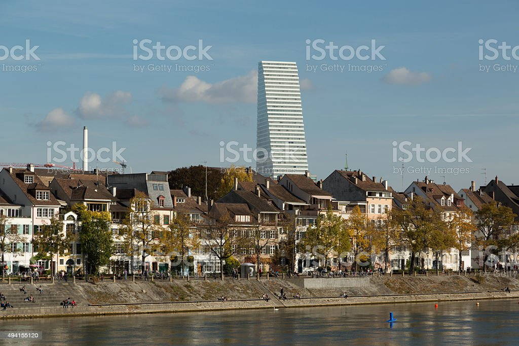 Basel In Autumn stock photo