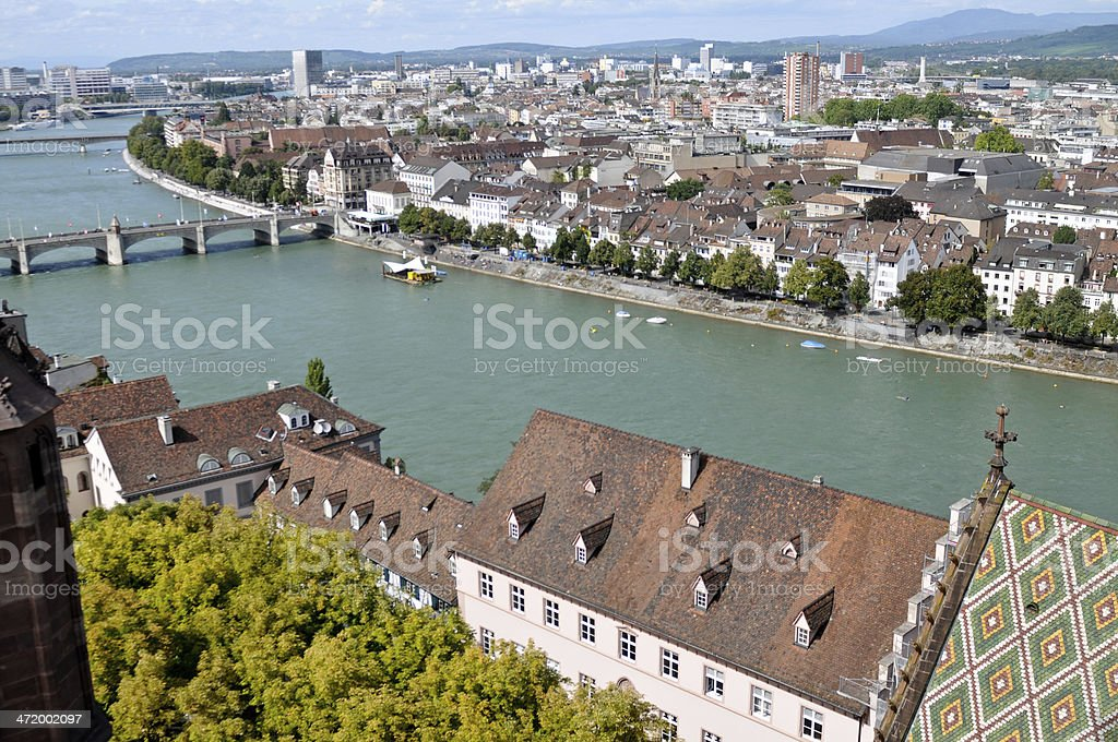 Basel in Summer stock photo