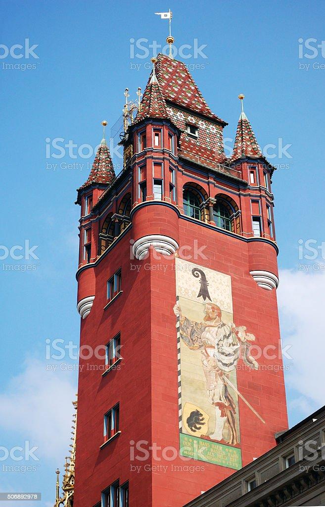 Basel Rathaus stock photo