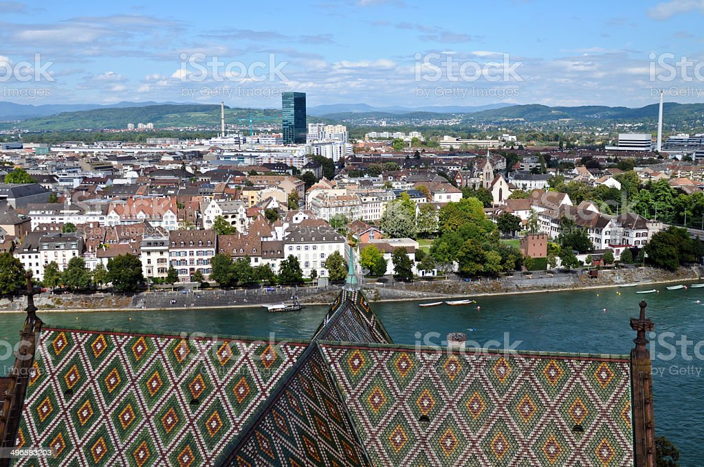 Basel wit River stock photo