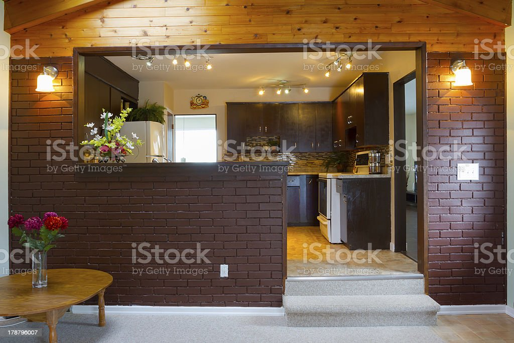Basement and kitchen Interior design royalty-free stock photo