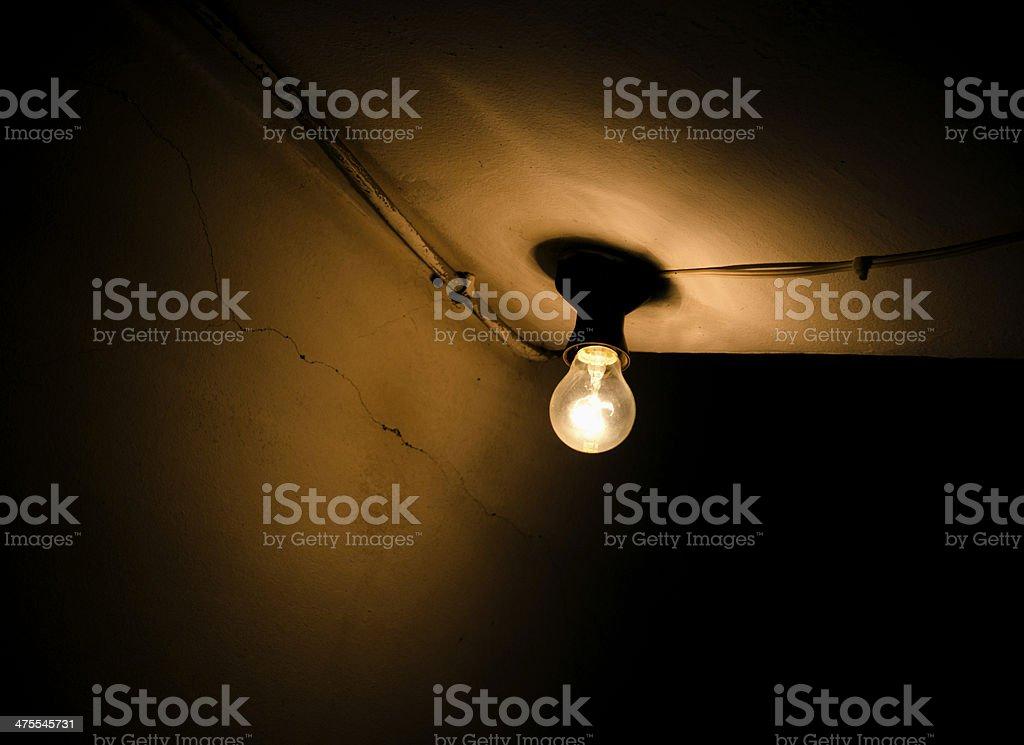Basement bulb royalty-free stock photo
