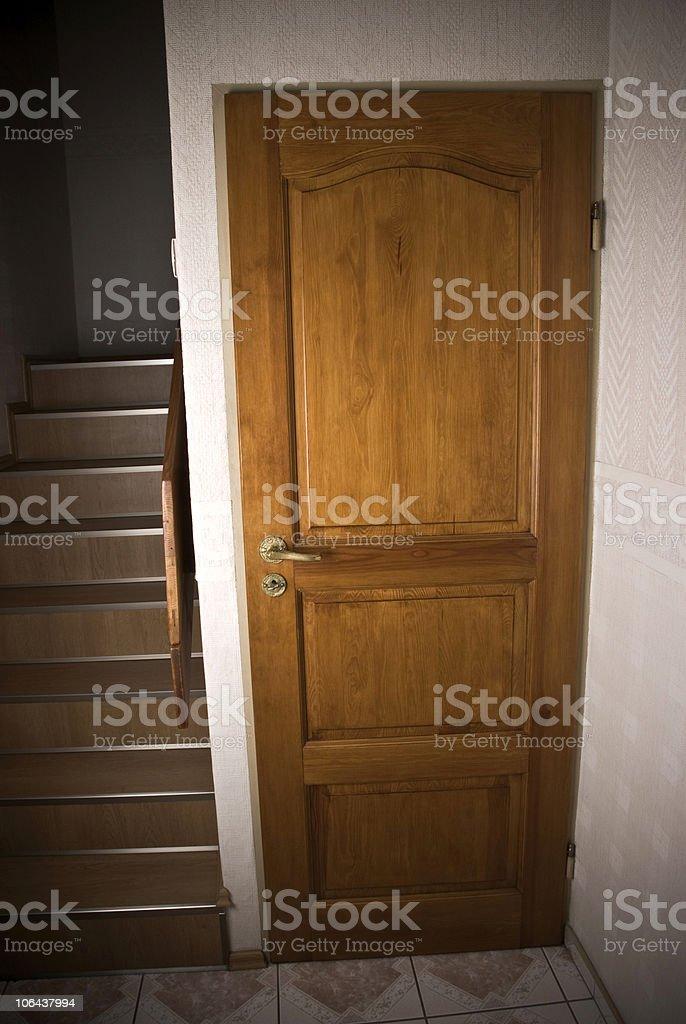 Basement door stock photo