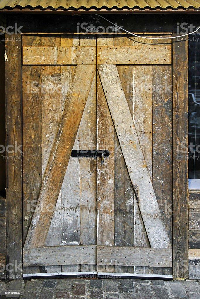 Basement door royalty-free stock photo