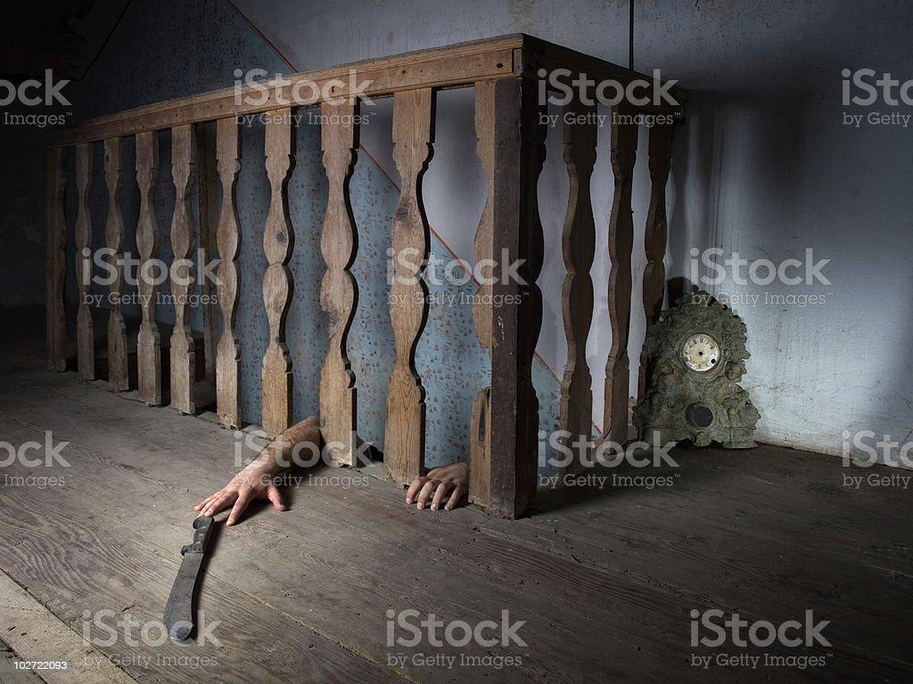 Basement fear stock photo