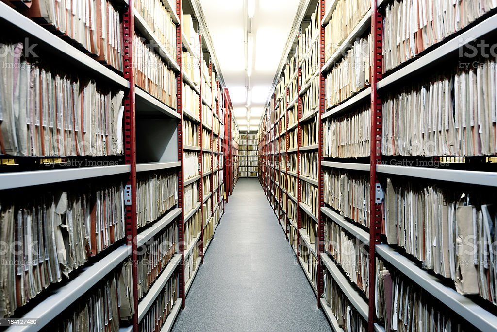Basement filing. royalty-free stock photo