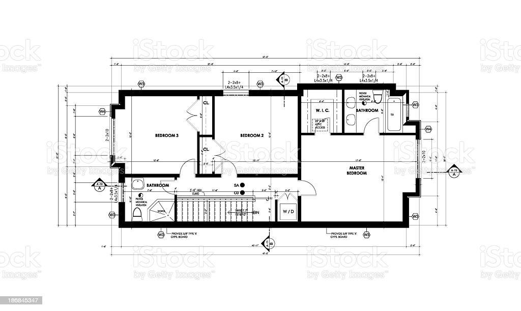 basement floor plan stock photo