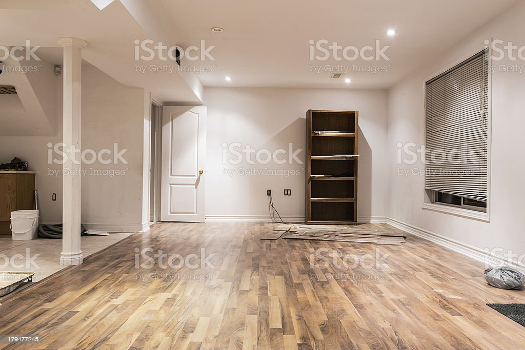 Basement Home Improvement stock photo