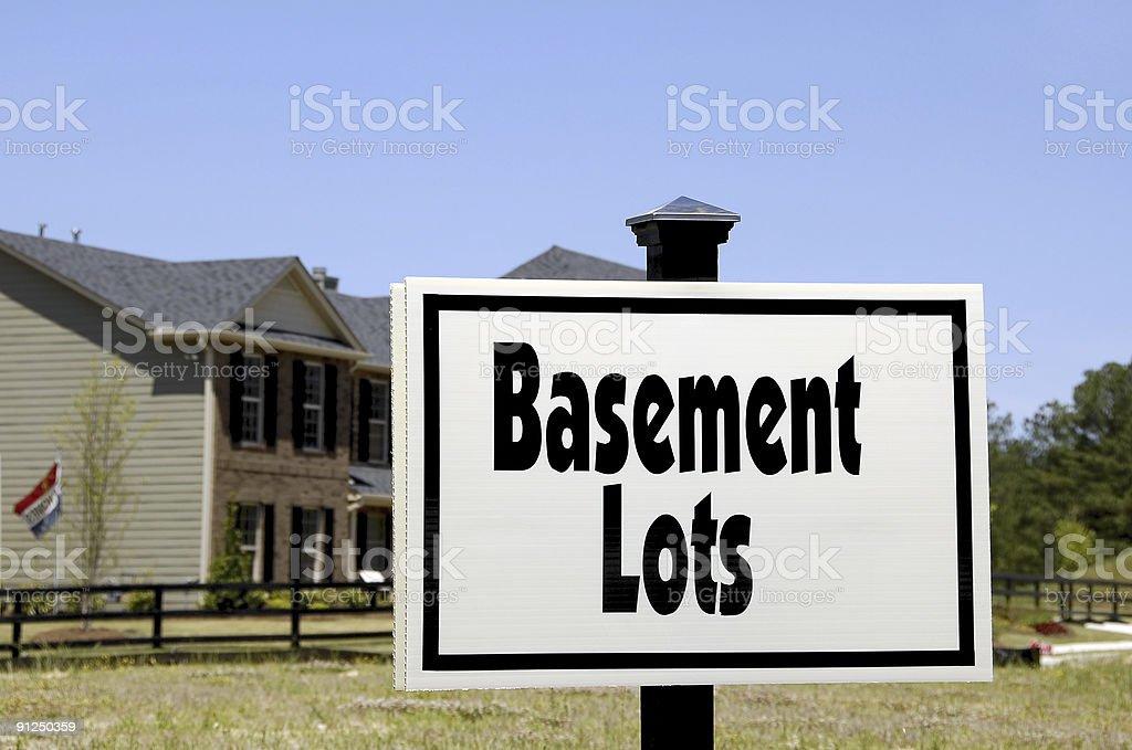 Basement Lots royalty-free stock photo